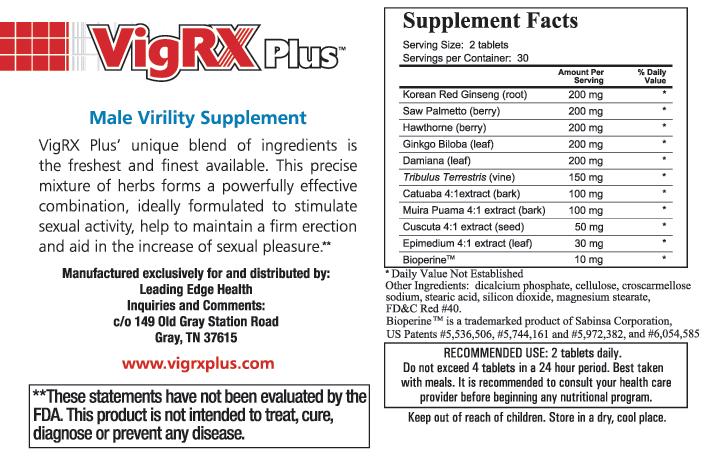 vigrxplus ingredients