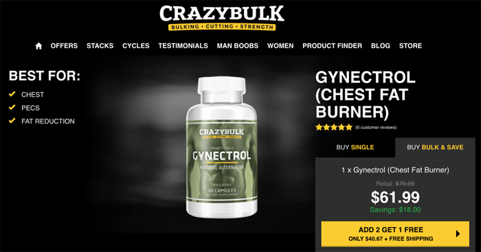 Crazy Bulk Gynectrol official website