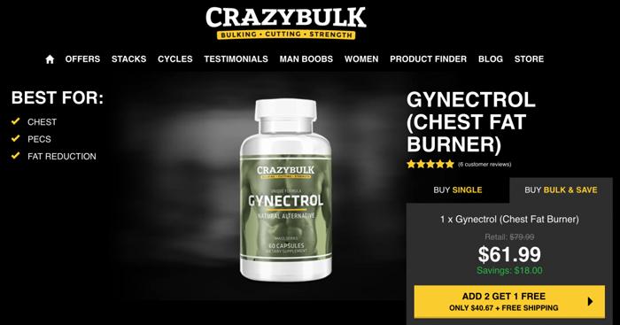 Crazy Bulk Gynectrol official website